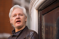 File photo dated 19/05/17 of Julian Assange, who has indicated that he may guest host a US radio show from inside the Ecuadorian embassy in London.