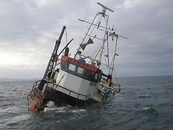 Sinking Fishing Boat- Sea wyf, Doubtless Bay, Fairway Rocks