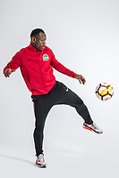 **EXCLUSIVE**Portrait of Cameroonian soccer player Christian Bassogog of Henan Jianye F.C. for the 2018 Chinese Football Association Super League, in Zhengzhou city, central China's Henan province, 21 February 2018.