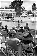 Henley-On-Thames, Berkshire, UK.,Thursday, 12.08.21,   Wyfold Challenge Cup, Lea Rowing Club, move past the progress boat in their heat at the 2021 Henley Royal Regatta,  [ Mandatory Credit © Peter Spurrier/Intersport Images],