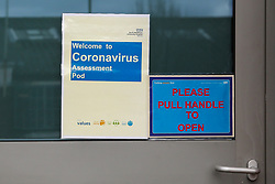 © Licensed to London News Pictures. 03/03/2020. London, UK. A Coronavirus Assessment Pod at North Middlesex University Hospital in Edmonton. Thirty nine people have tested positive of Coronavirus. Today Prime Minister Boris Johnson has set out the Government's plan to tackle Coronavirus (Covid-19) in the UK. Photo credit: Dinendra Haria/LNP
