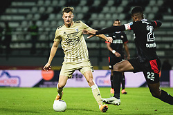 Kevin Žižek of Mura during football match between NS Mura and PSV Eindhoven in Third Round of UEFA Europa League Qualifications, on September 24, 2020 in Stadium Fazanerija, Murska Sobota, Slovenia. Photo by Blaz Weindorfer / Sportida