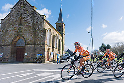 Chantal Blaak leads the peloton on her way to back to back wins at Le Samyn des Dames - Le Samyn des Dames 2016, a 113km road race from Quaregnon to Dour, on March 2, 2016 in Hainaut, Belgium.
