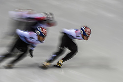 February 17, 2018 - Pyeongchang, Gangwon, South Korea - Lim Hyojun of  South Korea competing in 1000 meter speed skating for men at Gangneung Ice Arena, Gangneung, South Korea on 17 February 2018. (Credit Image: © Ulrik Pedersen/NurPhoto via ZUMA Press)