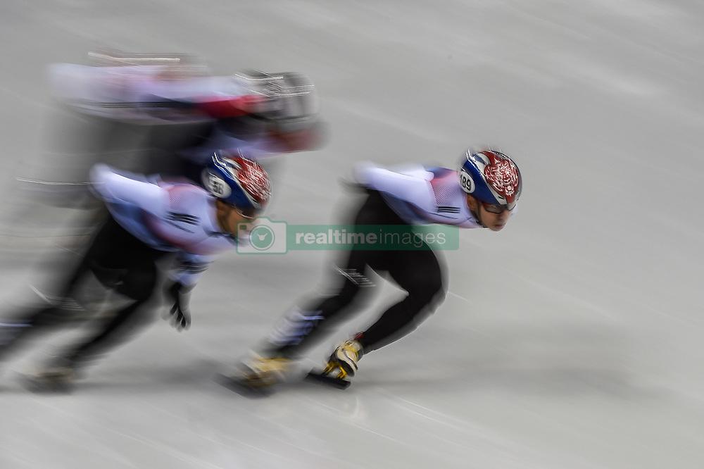 February 17, 2018 - Pyeongchang, Gangwon, South Korea - Lim Hyojun of South Korea competing in 1000 meter speed skating for men at Gangneung Ice Arena, Gangneung, South Korea on 17 February 2018. (Credit Image: © Ulrik Pedersen/NurPhoto via ZUMA Press)