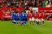 Football - 2021 / 2022 Pre-Season Friendly - Manchester United vs Everton - Old Trafford - Saturday 7th August 2021<br /> <br /> The two teams walk out before the game, at Old Trafford.<br /> <br /> COLORSPORT/ALAN MARTIN