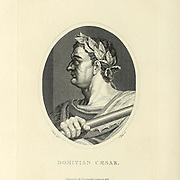 Domitian (Domitianus; 24 October 51 – 18 September 96) was Roman emperor from 81 to 96. He was the son of Vespasian and the younger brother of Titus, his two predecessors on the throne, and the last member of the Flavian dynasty. During his reign, the authoritarian nature of his rule put him at sharp odds with the Senate, whose powers he drastically curtailed. Domitian had a minor and largely ceremonial role during the reigns of his father and brother. After the death of his brother, Domitian was declared emperor by the Praetorian Guard. His 15-year reign was the longest since that of Tiberius. As emperor, Copperplate engraving From the Encyclopaedia Londinensis or, Universal dictionary of arts, sciences, and literature; Volume XXII;  Edited by Wilkes, John. Published in London in 1827