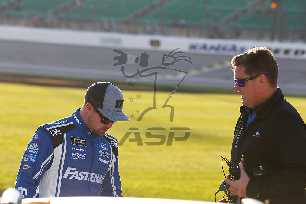 October 20, 2017 - Kansas City, Kansas, USA: Ricky Stenhouse Jr (17) hangs out out on pit road prior to qualifying for the Hollywood Casino 400 at Kansas Speedway in Kansas City, Kansas.