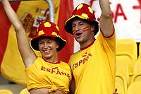 GEPA-2206086815 - WIEN,AUSTRIA,22.JUN.08 - FUSSBALL - UEFA Europameisterschaft, EURO 2008, Spanien vs Italien, ESP vs ITA, Viertelfinale. Bild zeigt Spanien-Fans.<br />Foto: GEPA pictures/ Felix Roittner