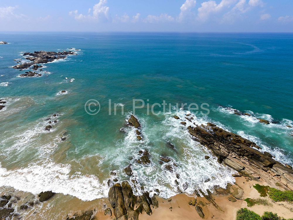 Kalametiya beach on the south coast of Sri Lanka on 14 April 2016.