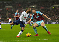 Football - 2018 / 2019 Premier League - Tottenham Hotspur vs. Burnley<br /> <br /> Lucas Moura (Tottenham FC)  with one of the few opportunities at goal at Wembley Stadium.<br /> <br /> COLORSPORT/DANIEL BEARHAM