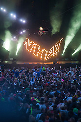 Joel Zimmerman, Deadmau5 headline Saturday night on the main stage..Saturday at Rockness 2012..©Michael Schofield..
