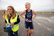 Iris Slappendel (rechts) tijdens de zesde en laatste racedag. Het Human Power Team Delft en Amsterdam, dat bestaat uit studenten van de TU Delft en de VU Amsterdam, is in Amerika om tijdens de World Human Powered Speed Challenge in Nevada een poging te doen het wereldrecord snelfietsen voor vrouwen te verbreken met de VeloX 7, een gestroomlijnde ligfiets. Het record is met 121,81 km/h sinds 2010 in handen van de Francaise Barbara Buatois. De Canadees Todd Reichert is de snelste man met 144,17 km/h sinds 2016.<br /> <br /> With the VeloX 7, a special recumbent bike, the Human Power Team Delft and Amsterdam, consisting of students of the TU Delft and the VU Amsterdam, wants to set a new woman's world record cycling in September at the World Human Powered Speed Challenge in Nevada. The current speed record is 121,81 km/h, set in 2010 by Barbara Buatois. The fastest man is Todd Reichert with 144,17 km/h.