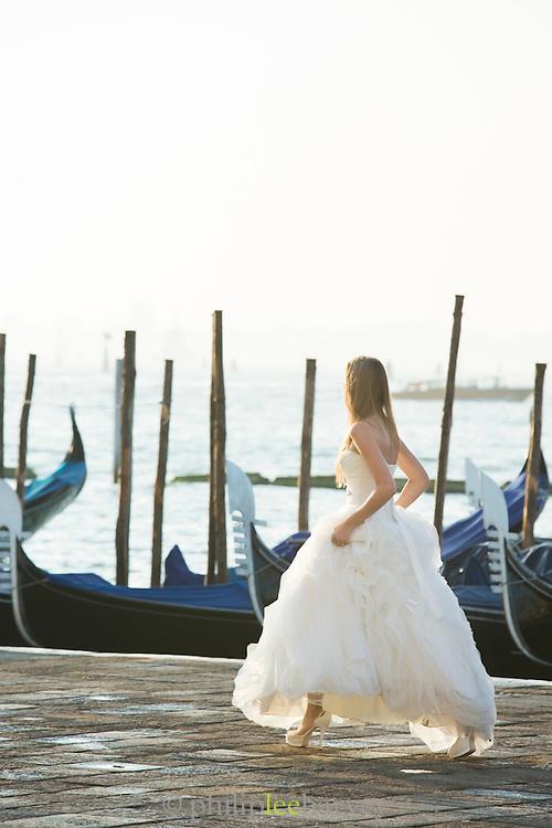 Bride, St Mark's Square.Venice, Italy, Europe