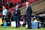 Scotland Manager Steve Clarke during the UEFA European 2020 Qualifier match between Scotland and Russia at Hampden Park, Glasgow, United Kingdom on 6 September 2019.
