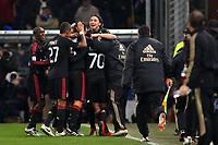 FOOTBALL - ITALIAN CHAMPIONSHIP 2010/2011 - SAMPDORIA GENES v MILAN AC - 27/11/2010 - PHOTO : MAURICIO DI CIUCCIO / PENTASPORTS / DPPI - GOAL CELEBRATION
