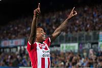 ZWOLLE, PEC Zwolle - PSV, Eredivisie, Voetbal, MAC3Park Stadion, Seizoen 2016 / 2017, 20-08-2016, PSV speler Steven Bergwijn juicht na de 0-4.