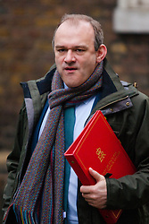 London, February 10th 2015. Ministers arrive at the weekly cabinet meeting at 10 Downing Street. PICTURED: Edward Davey, Secretary of State for Energy and Climate Change