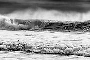 Photographs of the Pacific Ocean surf in California