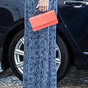 NLD/Amsterdam/20191002 - Laurentien bij ECF Princess Margriet Award for Culture, Rode tas met rode schoenen van Prinses laurentien