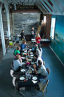 Sit down lunch with Community Supported Fishery of Garabaldi, OR with food created by April Larsen.