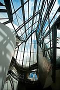 windows and skylights at Guggenheim museum in Bilbao, Spain