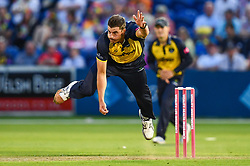 Marchant de Lange of Glamorgan in action<br /> <br /> Photographer Craig Thomas/Replay Images<br /> <br /> Vitality Blast T20 - Round 4 - Glamorgan v Middlesex - Friday 26th July 2019 - Sophia Gardens - Cardiff<br /> <br /> World Copyright © Replay Images . All rights reserved. info@replayimages.co.uk - http://replayimages.co.uk