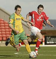 Photo: Aidan Ellis.<br /> Barnsley v Norwich City. Coca Cola Championship. 03/03/2007.<br /> Norwich's Lee Croft gets away from Barnsley's Sam Togwell