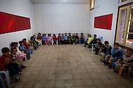 Preschoolers at an Islamist school in Karaouine. Communitiies set up these schools in the Ben Ali era in order to teach their children Islam instead of Ben Ali propaganda.