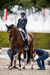 PETERS Steffen (USA), Suppenkasper<br /> Aachen - CHIO 2018<br /> Abreiteplatz Vorbereitung zum Grand Prix Special<br /> 20. Juli 2018<br /> © www.sportfotos-lafrentz.de/Stefan Lafrentz