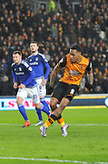 Hull City striker Abel Hernandez (9) scores from penalty spotduring the Sky Bet Championship match between Hull City and Cardiff City at the KC Stadium, Kingston upon Hull, England on 13 January 2016. Photo by Ian Lyall.