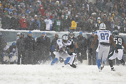 Detroit Lions wide receiver Calvin Johnson #81 catches the ball during the NFL game between the Detroit Lions and the Philadelphia Eagles on Sunday, December 8th 2013 in Philadelphia. The Eagles won 34-20. (Photo by Brian Garfinkel)