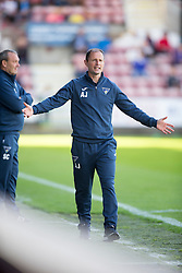 Dunfermline's manager Allan Johnston. <br /> Dunfermline 7 v 1 Cowdenbeath, SPFL Ladbrokes League Division One game played 15/8/2015 at East End Park.