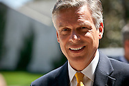 Jon Huntsman Jr..Eight republican candidates for US President face off at a debate held at the Ronald Reagan Library. The debate was sponsored by NBC News and POLITICO, and was moderated by Brian Williams, anchor of NBC Nightly News.