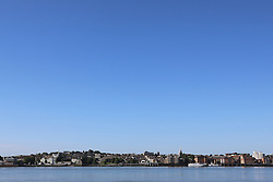 © Licensed to London News Pictures. 08/06/2014. Gravesend enjoyed stunning sunshine and clear blue skies this morning. There was not a cloud to be seen in the sky above the Kent town of Gravesend where the hottest temperatures in the country are often recorded. Credit : Rob Powell/LNP
