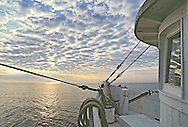 """Miss Nancy fishing Boat at dawn, Long Island Sound, New York, North Fork, Connecticut, """"Between Sea and Sky, Landscapes of Long Island's North Fork page 62"""