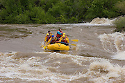 Rafters in high water on the Rio Grande