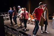 """Middletown, New York - The SUNY Orange Apprentice Players peform Jordan Harrison's play """"The Grown-up"""" at the William and Helen Richards Theatre on Nov. 16, 2017."""