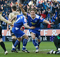 Photo: Steve Bond/Richard Lane Photography. Leicester City v Huddersfield Town. Coca Cola League One. 24/01/2009. Michael Morrison turns after scoring