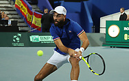 Benoit Paire ( French) during the 2018 Davis Cup, semi final tennis match between France and Spain on September 14, 2018 at Pierre Mauroy stadium in Lille, France - Photo Laurent Lairys / ProSportsImages / DPPI
