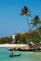 Tanzanie, archipel de Zanzibar, île de Unguja (Zanzibar), palge du village de Nungwi  // Tanzania, Zanzibar island, Unguja, Nungwi village beach