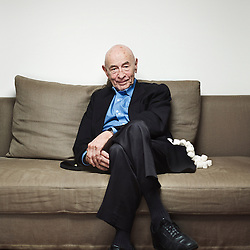 """Paris, France. August 27, 2014. Walter Mischel, psychologist, especially known for his """"Marshmallow experiment"""", in his home. Photo: Antoine Doyen"""