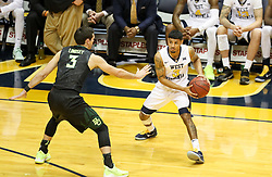 Jan 9, 2018; Morgantown, WV, USA; West Virginia Mountaineers guard James Bolden (3) passes the ball during the second half against the Baylor Bears at WVU Coliseum. Mandatory Credit: Ben Queen-USA TODAY Sports