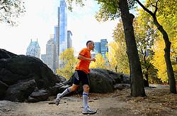 02-11-2013 ALGEMEEN: BVDGF NY MARATHON: NEW YORK <br /> Voorbereiding NY marathon 2013 in het Central Park / Laurence<br /> ©2013-WWW.FOTOHOOGENDOORN.NL