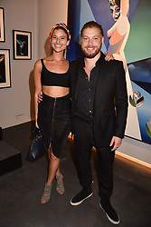 Lara Fraser and Jonny Burt at the launch of Unit London Mayfair and Ryan Hewett The Garden Preview, Hanover Square, London, England. 26 June 2018.