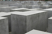 The concrete blocks at the holocaust memorial in Berlin, Germany, April 05, 2012.