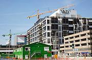 Construction work near V&D department store in Hoog Catharijne shopping centre, Utrecht, Netherlands