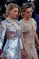 Jury members Léa Seydoux and Kristen Stewart at the Award Ceremony and The Man Who Killed Don Quixote at the The Man Who Killed Don Quixote gala screening at the 71st Cannes Film Festival, Saturday 19th May 2018, Cannes, France. Photo credit: Doreen Kennedy