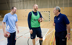 Vid Kavticnik, Ales Pajovic, Head coach Zvonimir Serdarusic - Noka at Open training session for the public of Slovenian handball National Men team before European Championships Austria 2010, on December 27, 2009, in Terme Olimia, Podcetrtek, Slovenia.  (Photo by Vid Ponikvar / Sportida)