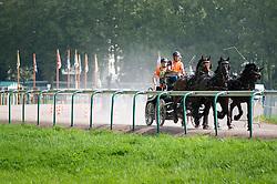 IJsbrand Chardon, (NED), Bravour, Danbrozie, Don Marcell, Winston E, Zepp - Driving Marathon - Alltech FEI World Equestrian Games™ 2014 - Normandy, France.<br /> © Hippo Foto Team - Becky Stroud<br /> 06/09/2014